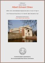 CWGC Certificate for Albert Edward Shaw