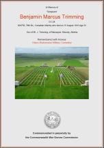 CWGC Certificate for Benjamin Marcus Trimming