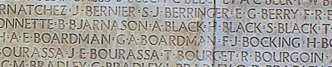 George Arthur Boardman on Vimy Memorial