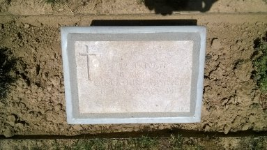 Headstone for George Housley Brumby
