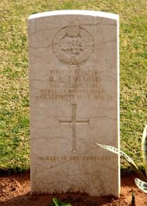 Headstone for Herbert Arthur Ambrose