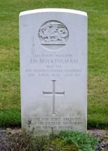 Headstone for John Desmond Buckingham