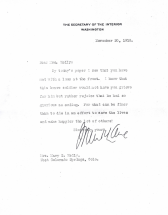 Letter to Mary Kelly regarding death of son Frank
