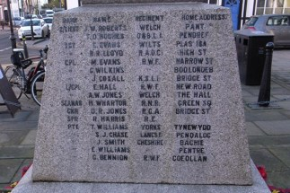 Llanfyllin War Memorial - Thomas Derfel Hughes