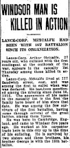 Newspaper report about death of Arthur Frederick Metcalfe