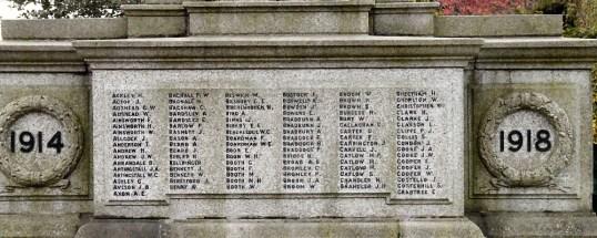 Panel on Denton War Memorial - William Broome