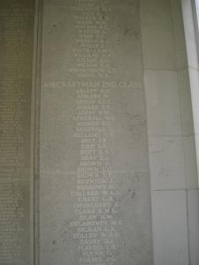 Runnymede Memorial Panel 26 - Kenneth Victor Bott