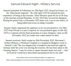 Samuel Edward Hight - Military Service