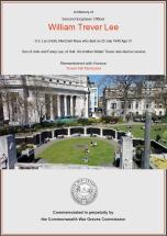 CWGC Certificate for William Trever Lee