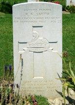 Headstone for Reginald Frederick Smith