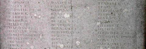 Memorial for Whitworth Dearden