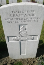 Headstone for Sam Eastwood