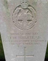 Headstone for James Henry Halstead