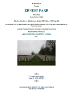 CWGC Certificate for Ernest Parr