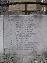 Frederick George Hammond on the War Memorial in Arundel