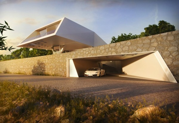Villa F: A Minimal Futuristic Home in Greece