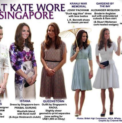 Royal Tour 2012: Singapore Fashion Recap