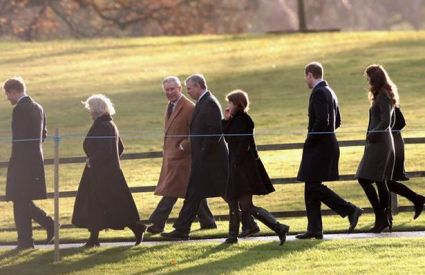 The Royal Family Heading to Church, Christmas Day 2011 (Picture: Getty Images)