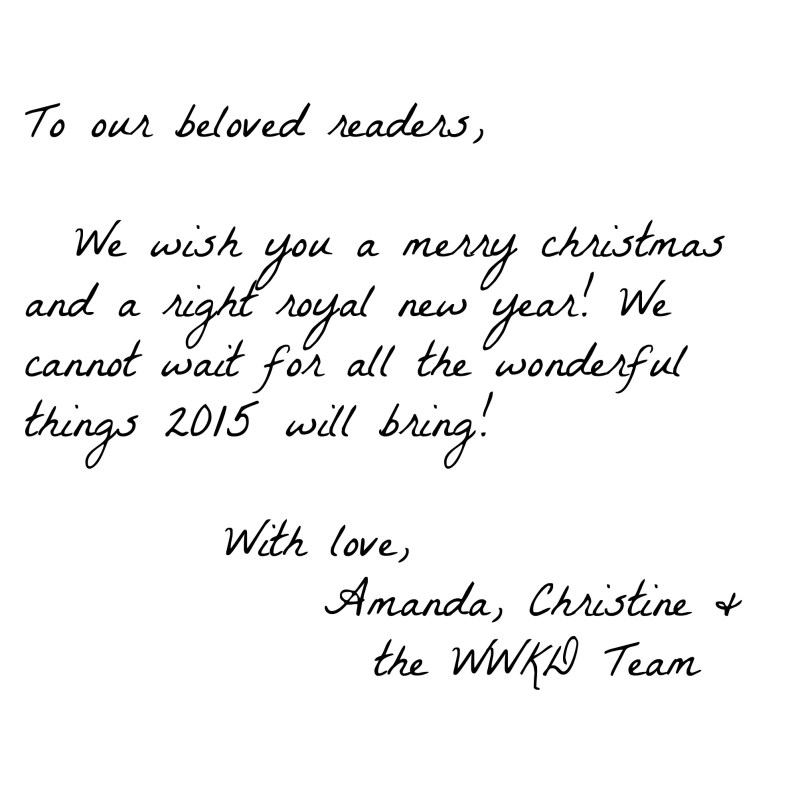 WWKD Christmas Card Writing