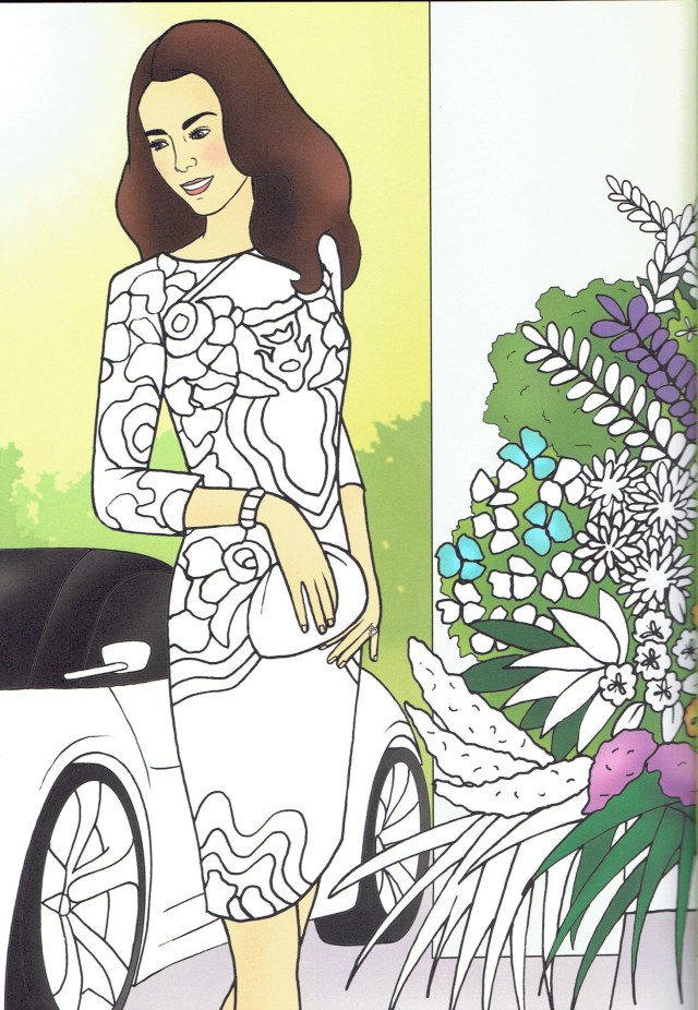 WWKD Kate Middleton Duchess of Cambridge Colouring Pages 3
