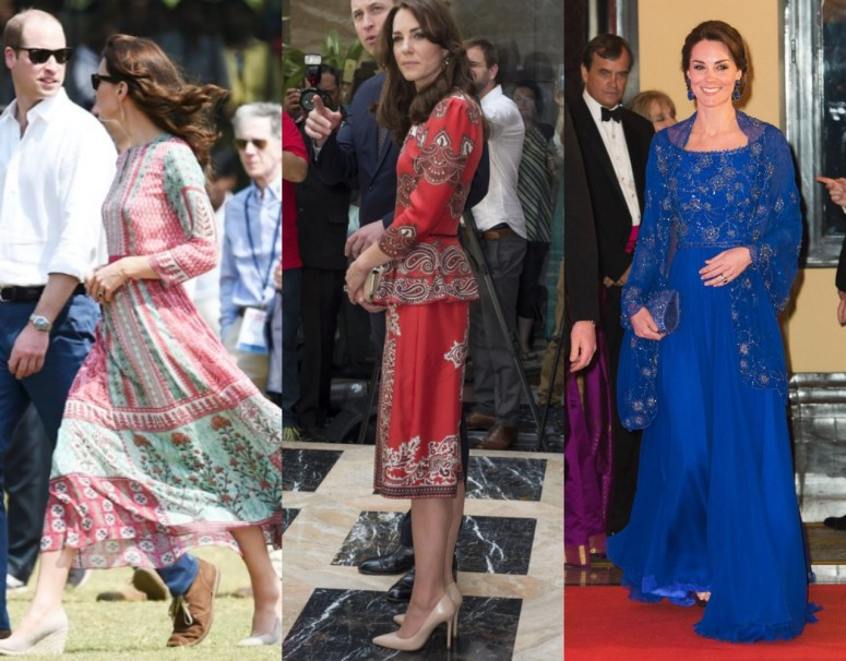 Day One Royal Tour India Dresses Worn by Duchess of Cambridge