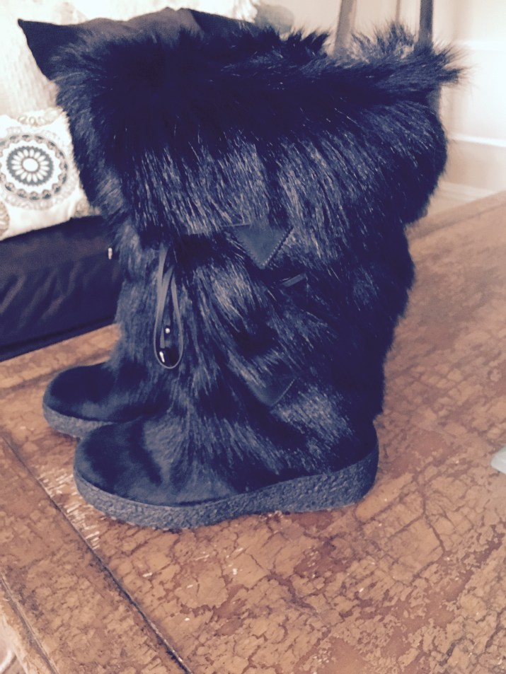 Oscar Fur Boots Kate Middleton