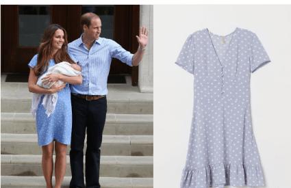 Kate Middleton RepliKate Polka Dot Dress Blue Baby