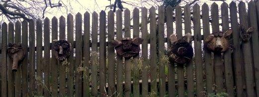 Woodland sculptures at Lydford Gorge, a National Trust property near Wheatland Farm's Devon eco lodges