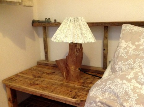 Bedside light, Balebarn eco lodge