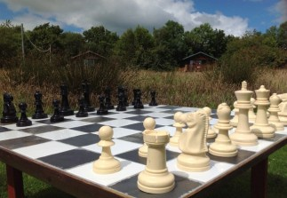 Outdoor chess at Wheatland Farm