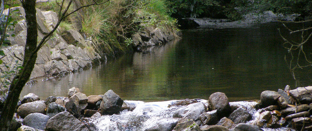 The swimming spot in Belstone Cleave