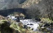 Bridge over the West Okement at the head of Meldon Reservoir, northern Dartmoor