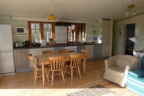 The kitchen area at Beech Lodge