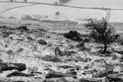 Belstone Tor scenery in the snow