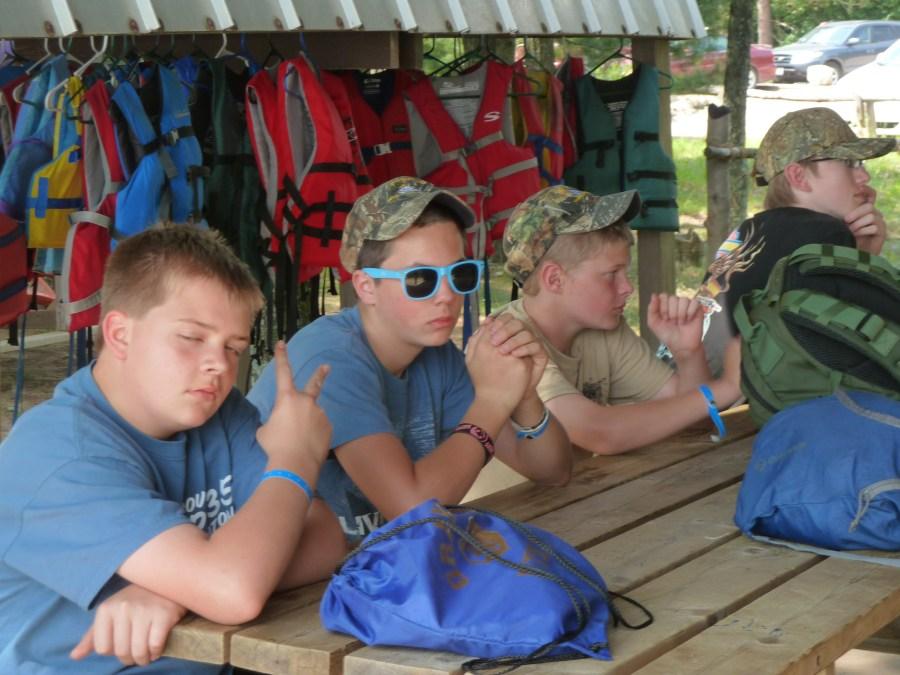 Canoe merit badge scouts