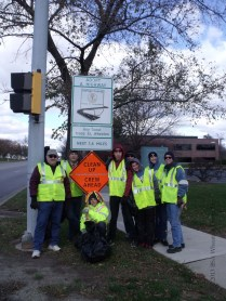 posing with the sign - intersection of Danada Dr. and Naperville Rd.