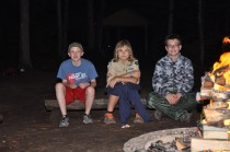 Carson, Josh & Eric by the fire.