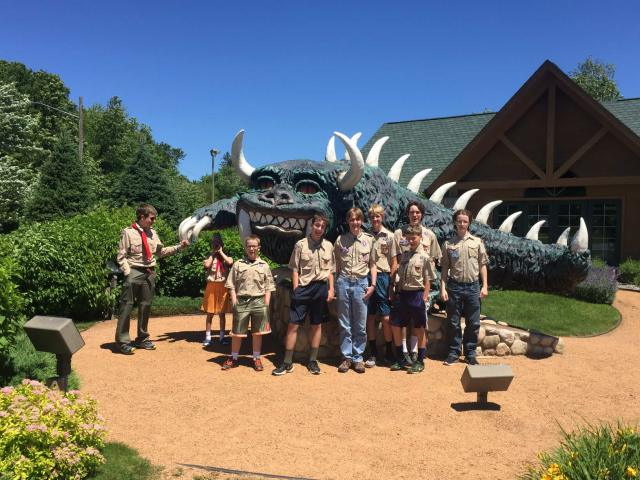 Troop 35 Scouts at The Hodag