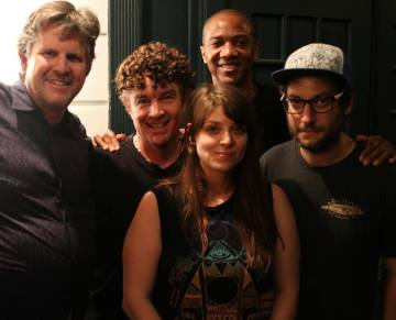 David Greenwalt, James Marsters, Amber Benson, J August Richards, and Adam Busch at The Bells of West 87th.