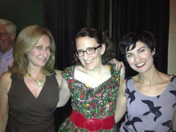Elin Hampton, Jane Espenson, and Dagney Kerr at The Bells of West 87th.