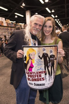 Camden Toy joins us to sign this wonderful poster that was available at our booth.