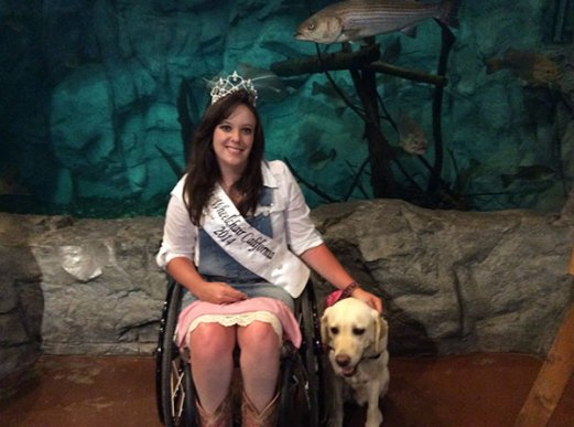 Ms. Wheelchair California, Tiffany Hendrickson (Photo courtesy of Ms. Wheelchair California Inc.)