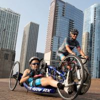 Tufano-hand-cycle-Chicago-skyscrapers