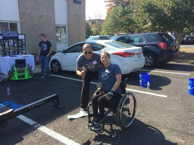Devon-Joanna-wheelchair-parking lot