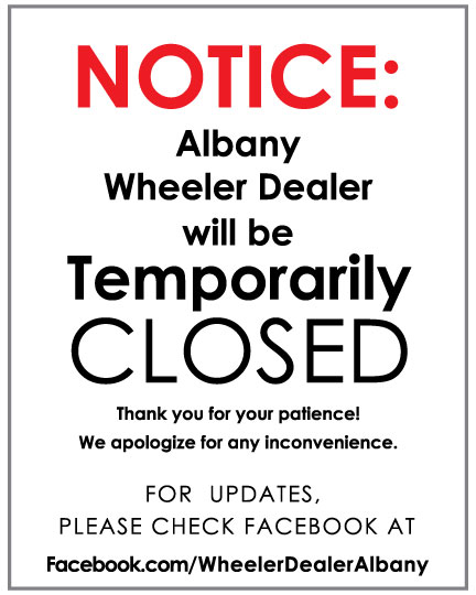 Notice For Albany Wheeler Dealer