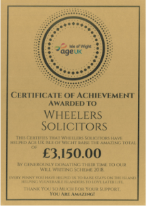 good solicitors near me | Age UK Isle of Wight Will writing scheme | Wheelers Solicitors in Newport, Ryde and Cowes Isle of Wight