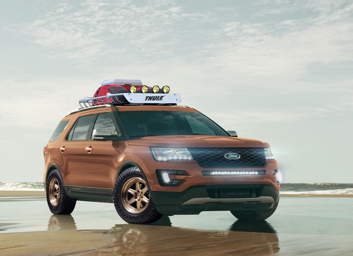 this ford explorer with custom wheels
