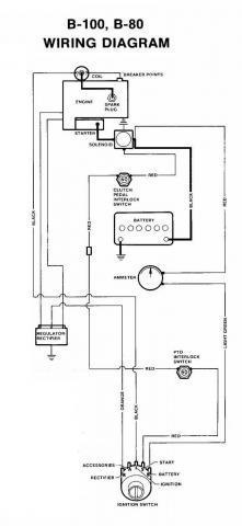 1976 B100 Wiring Diagram?  Wheel Horse Electrical
