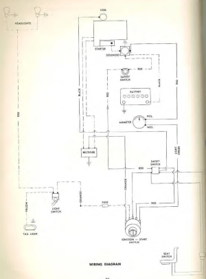 C100 wiring diagram  Wheel Horse Electrical  RedSquare