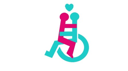 Diagram of Husband and Wheelie Wife on his wheelchair using disabled logo